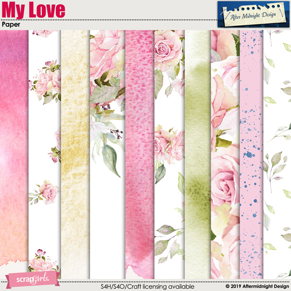 My Love Paper by Aftermidnight Design