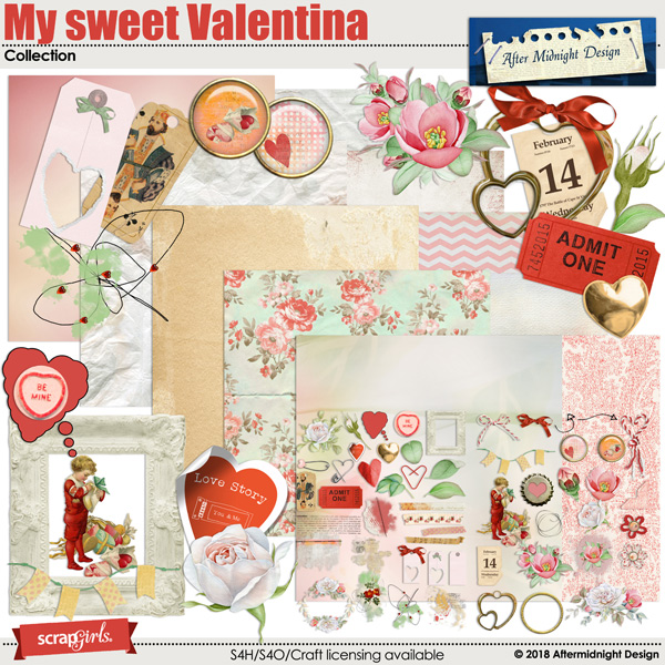 My sweet Valentina  Collection by Aftermidnight Design