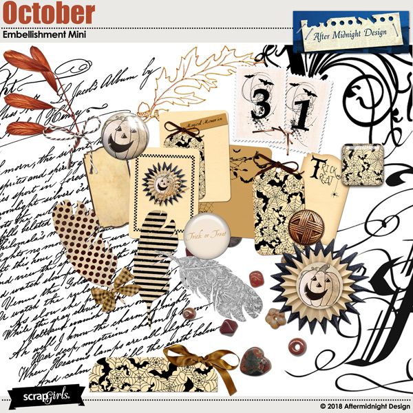 October Embellishment Mini by Aftermidnight Design