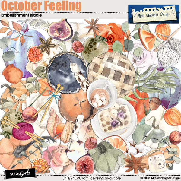 October Feelings Emb Biggie by Aftermidnight Design
