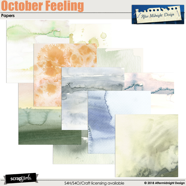 October Feeling Paper by Aftermidnight Design