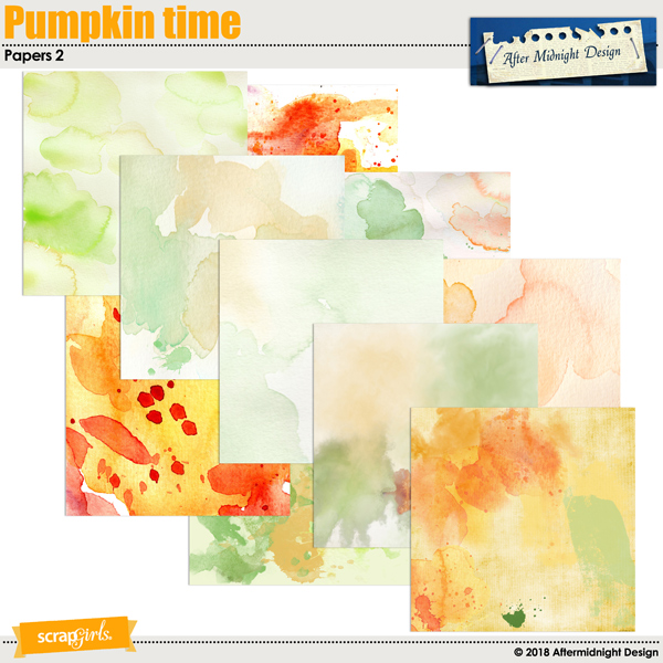 Pumpkin Time Papers 2 by Aftermidnight Design