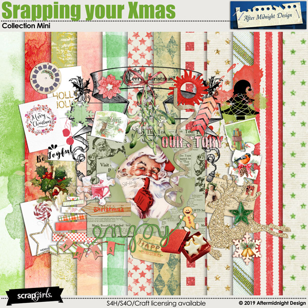 Scrapping your Xmas Collection Mini by Aftermidnight Design