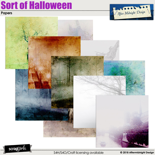 Sort of Halloween Papers by Aftermidnight Design