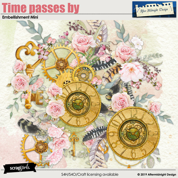 Time passes by Embellishment Mini by Aftermidnight Design