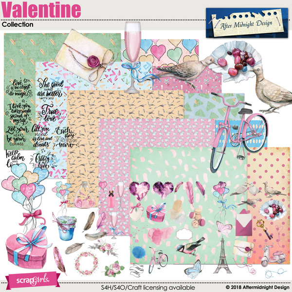 Valentine Collection by Aftermidnight Design