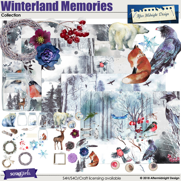 Winterland Memories Collection by Aftermidnight Design