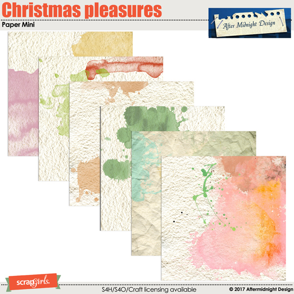 Christmas Plesures Paper Mini by Aftermidnight Design