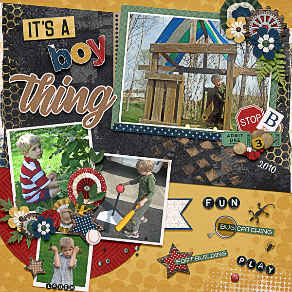 CT Layout using About A Boy by Connie Prince