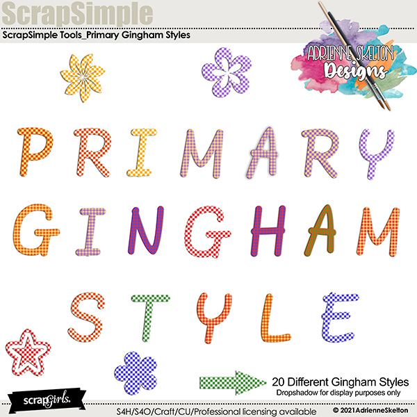 Primary Gingham Style For Photoshop