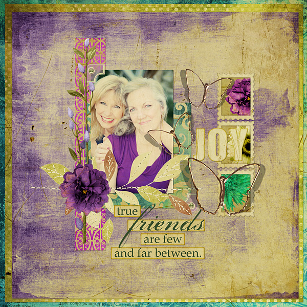 Friends layout using Antique Violet Collection Mini
