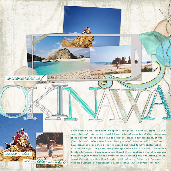 "Digital Scrapbooking Layout ""Okinawa"" by Amanda S (see supply list with links below)"