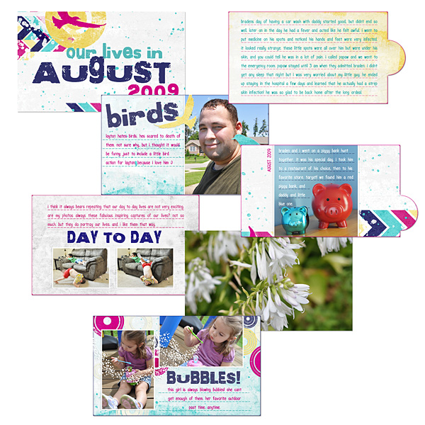 Digital Scrapbooking Layouts by Amanda S (see supply list with links below)