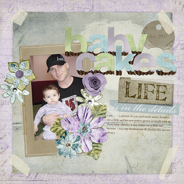 """Digital Scrapbooking Layout """"Baby Cakes"""" by Amanda S (see supply list with links below)"""