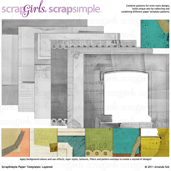 Sold Separately ScrapSimple Paper Templates: Layered (link to product below)