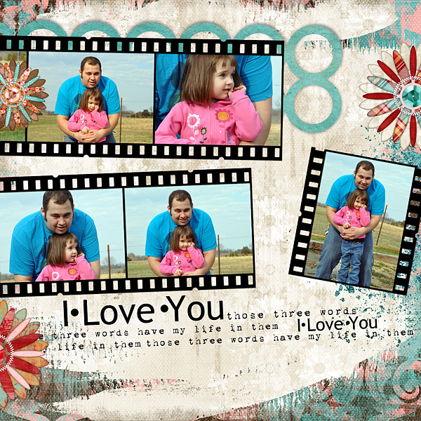 "Digital Scrapbooking Layout ""Love You"" by Amanda S (see supply list with links below)"