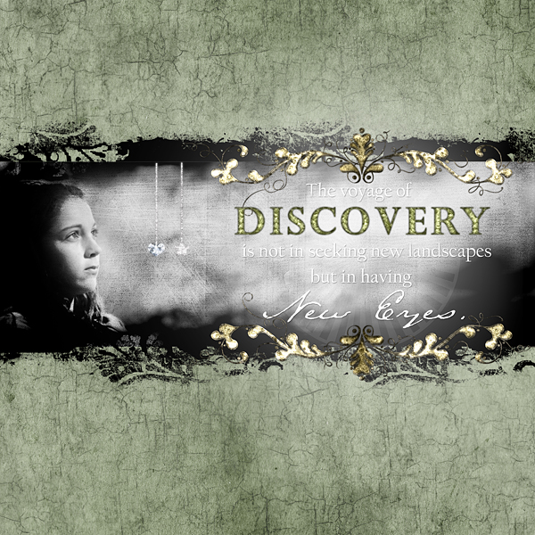 """Digital Scrapbooking Layout """"Discovery"""" by Amanda S (see supply list with links below)"""