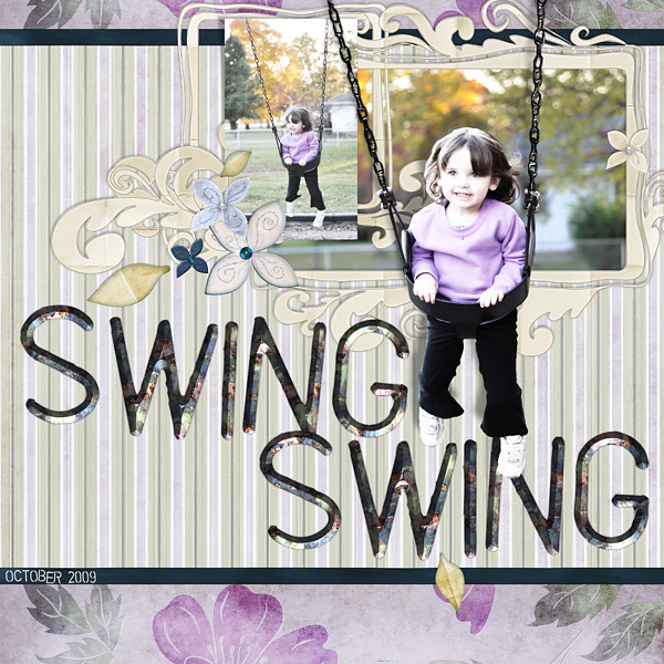 "Digital Scrapbooking Layout ""Swing Swing"" by Amanda S (see supply list with links below)"