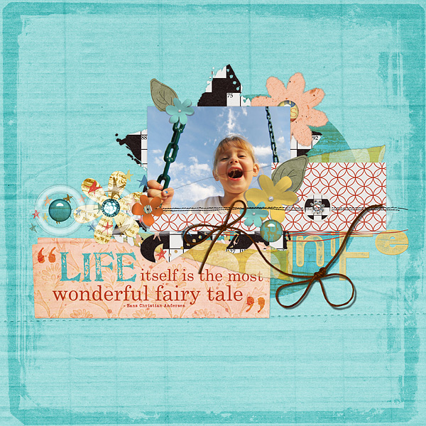 "Digital Scrapbooking Layout ""Life Itself"" by Amanda S (see supply list with links below)"