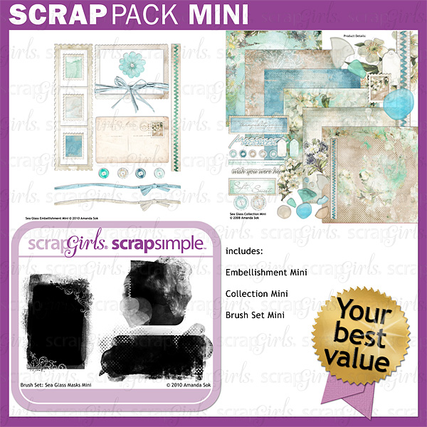 Scrap Pack Mini: Sea Glass