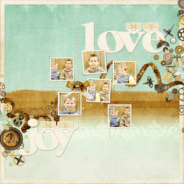 "Digital Scrapbooking Layout ""My Love"" by Amanda S (see supply list with links below)"