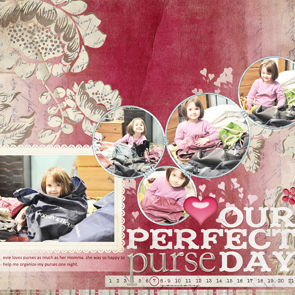 "Digital Scrapbooking Layout ""Our Perfect Purse Day"" by Amanda S (see supply list with links below)"