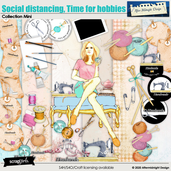 Social distancing, Time for hobbies by Aftermidnight Design
