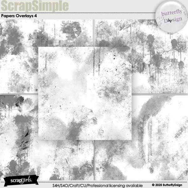 Scrapsimple Papers Templates: Overlays 4