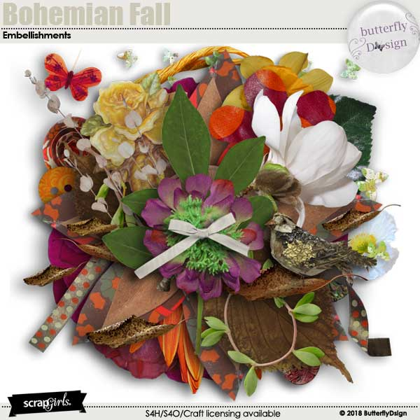 Bohemian Fall Embellishments