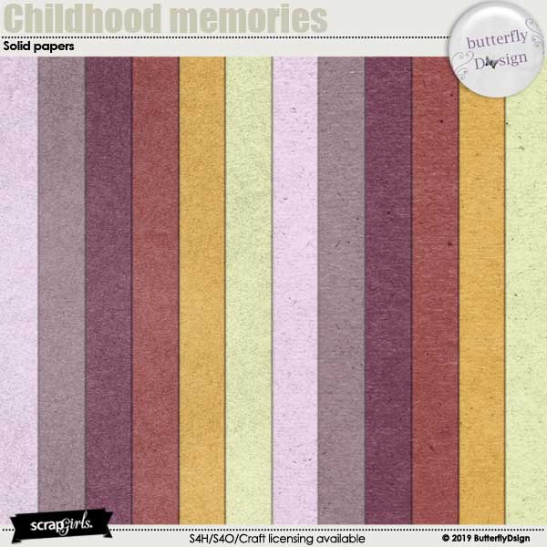 Childhood memories Solid papers