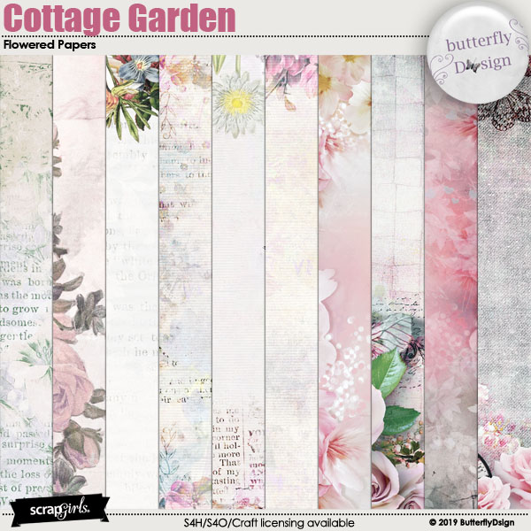 Cottage Garden Flowered Papers