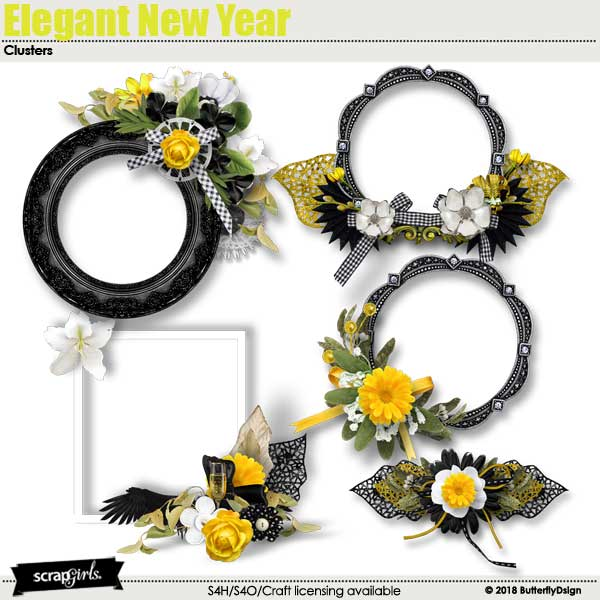 Elegant New Year Clusters