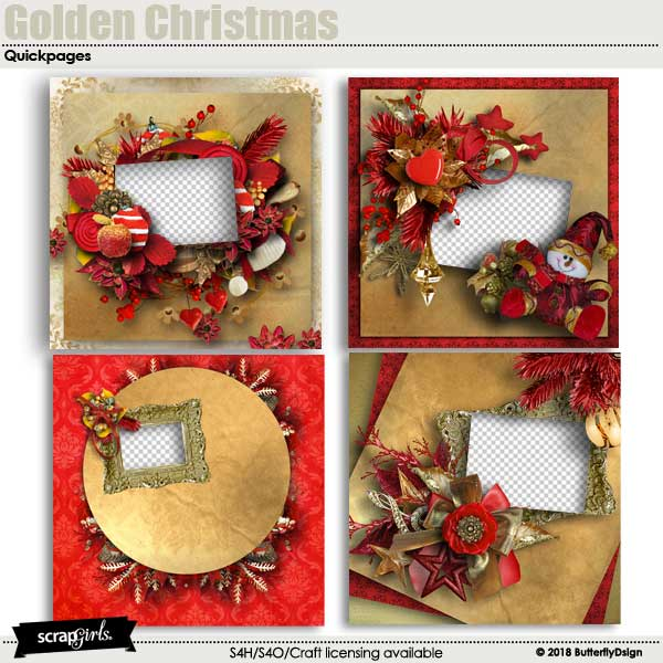 Golden Christmas Quickpages