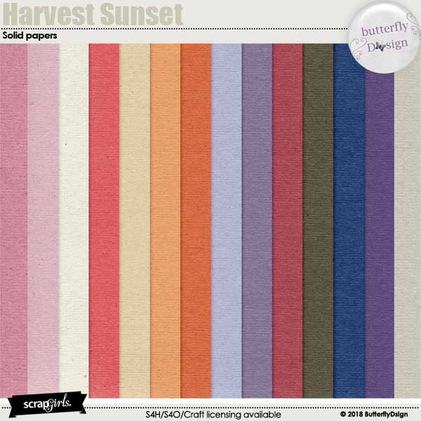 Harvest Sunset Solid papers