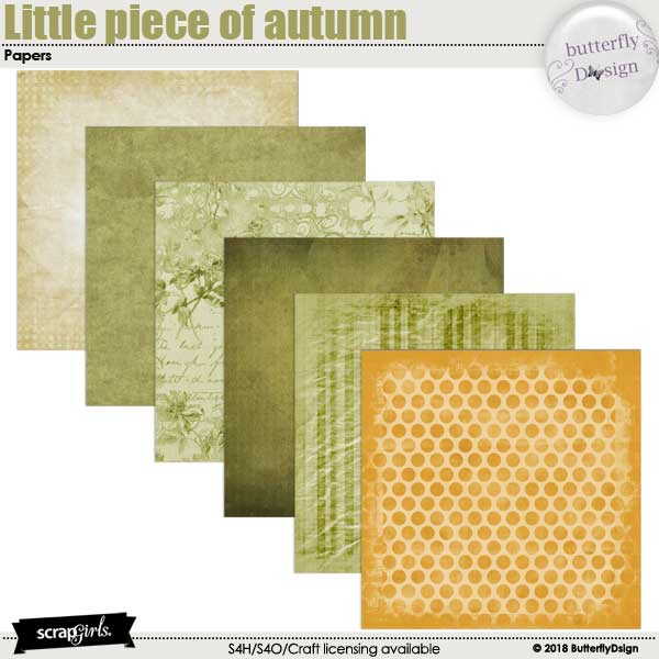 Little Piece of Autumn Papers