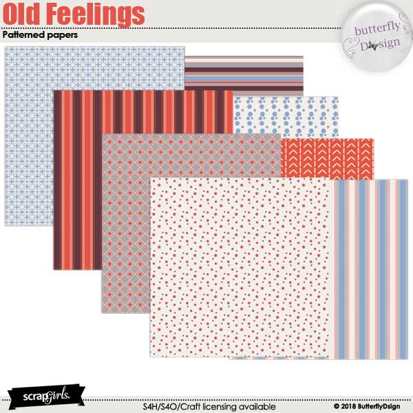 Old Feelings Patterned Papers