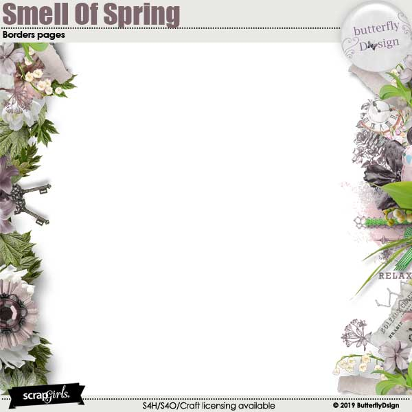 Smell Of Spring Borders Embellishments