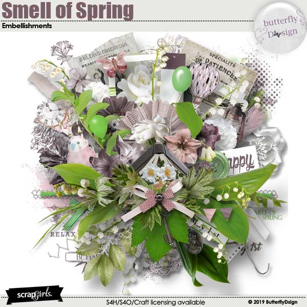 Smell Of Spring Embellishments