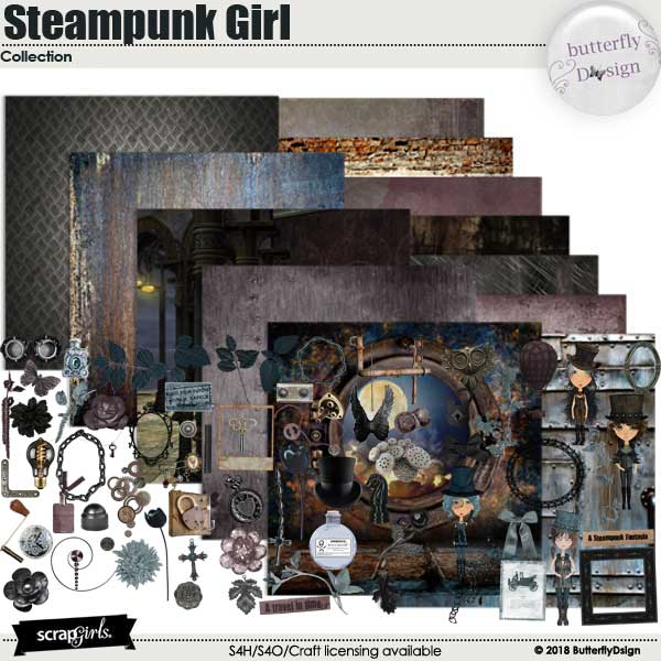 Steampunk girl Collection