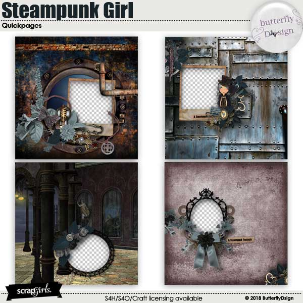 Steampunk Girl Quickpages