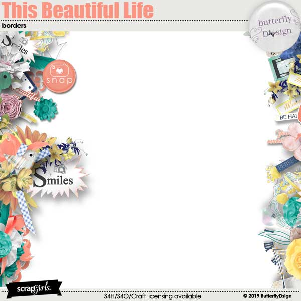 This Beautiful Life Borders pages