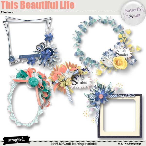 This Beautiful Life Embellishments Clusters