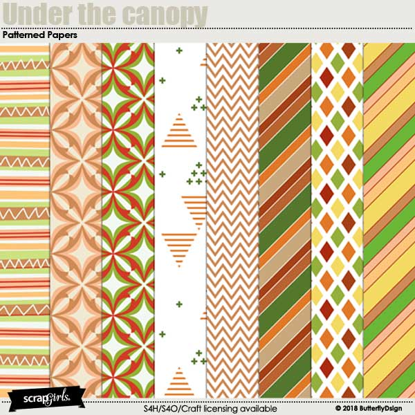 Under the Canopy Patterned Papers