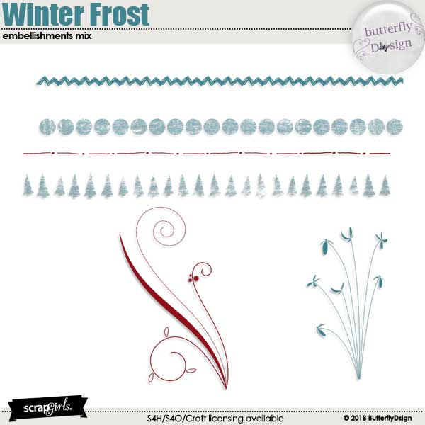 Winter Frost Embellishments Mix