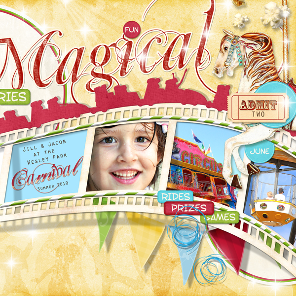 �Magical Memories (Right Page)�  layout by Brandy Murry. See below for links to all products used in this digital scrapbooking layout.