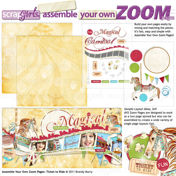 Assemble Your Own Zoom Pages: Ticket to Ride