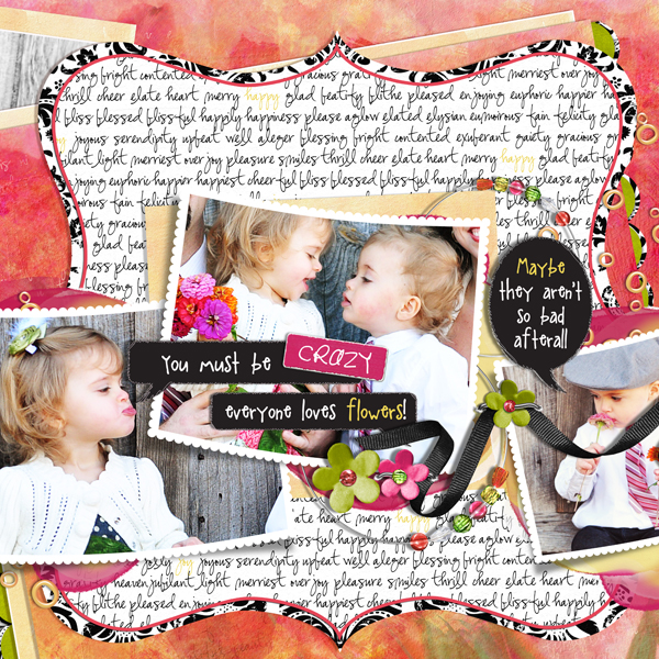Conversations of Two Year Olds (Right) layout by Brandy Murry. See below for links to all products used in this digital scrapbooking layout.
