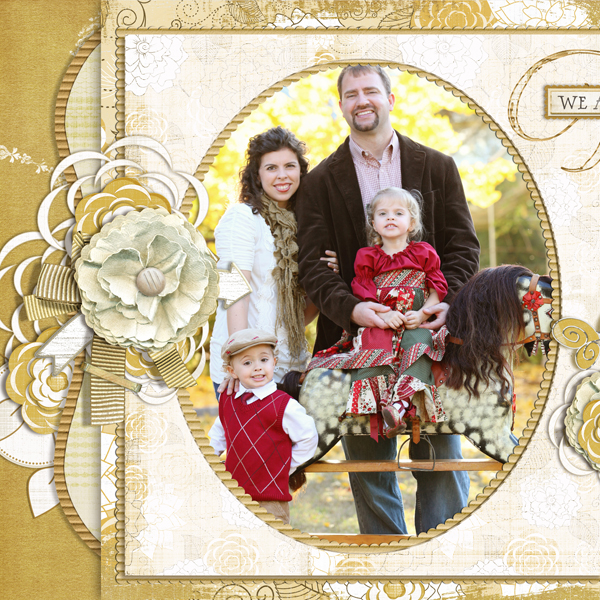 �Together� layout by Brandy Murry. See below for links to all products used in this digital scrapbooking layout.