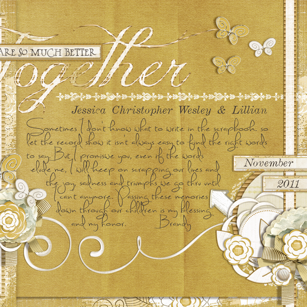 �Together� by Brandy Murry. See below for links to all products used in this digital scrapbooking layout.