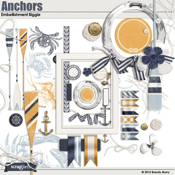 Anchors Embellishment Biggie (Included)